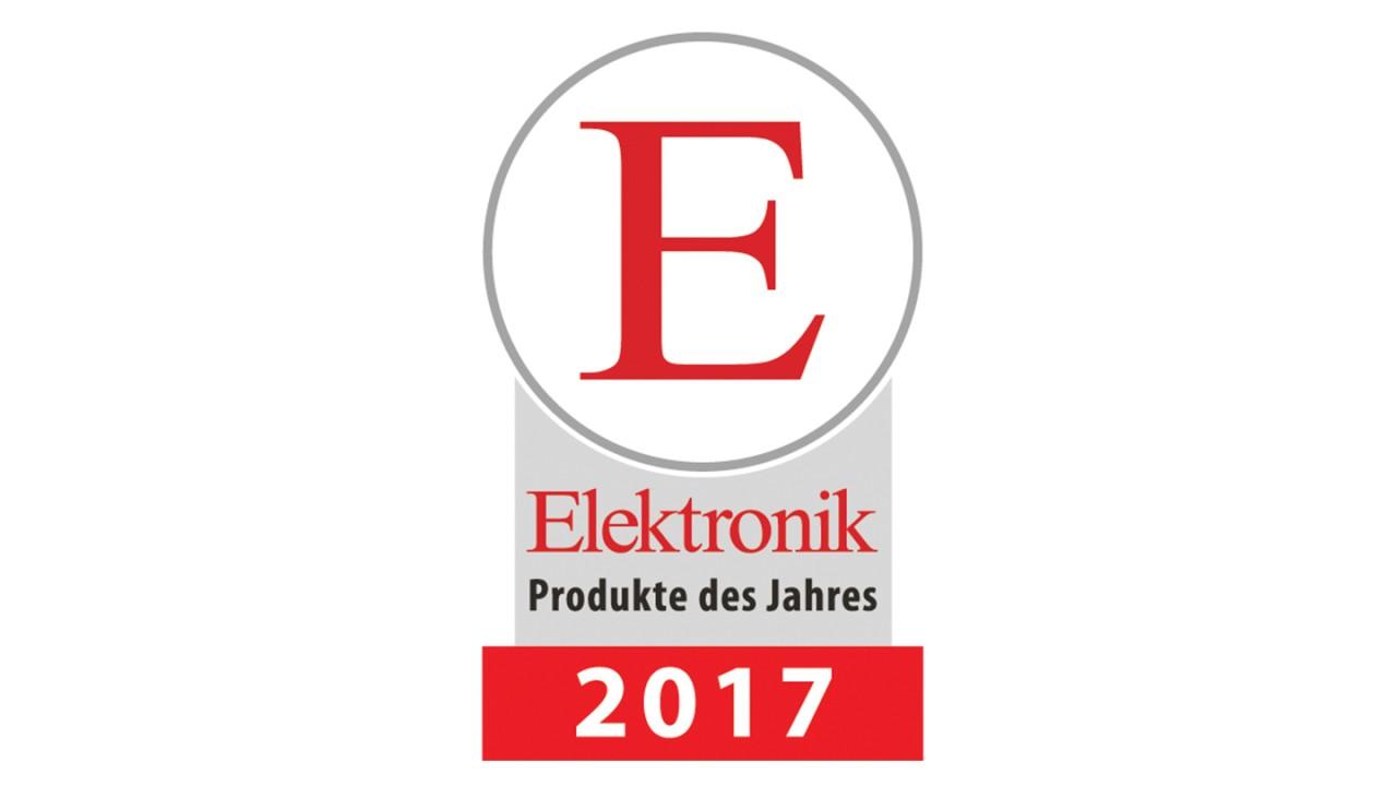 Produit de l'année 2017 pour la revue technique Elektronik