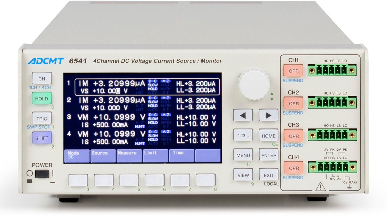 6541 4-channel DC generator/monitor with color display