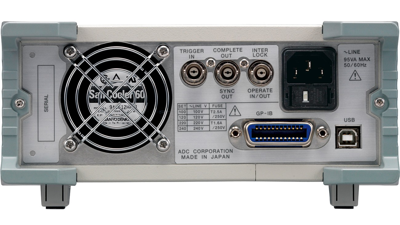 6241A DC Voltage current source/monitor, rear view