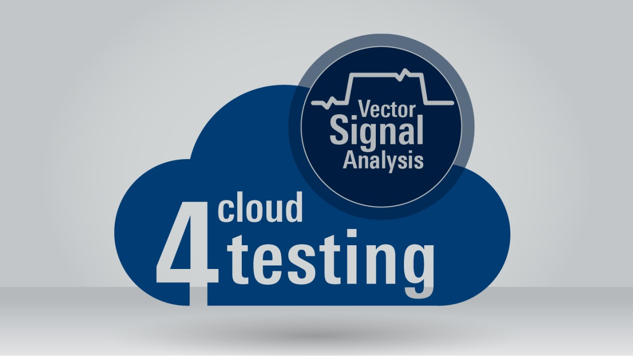 R&S®Cloud4Testing: Vector signal analysis application package