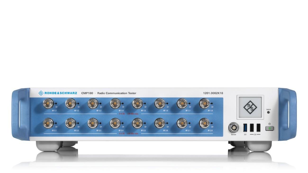 R&S®CMP180 radio communication tester with sixteen RF ports