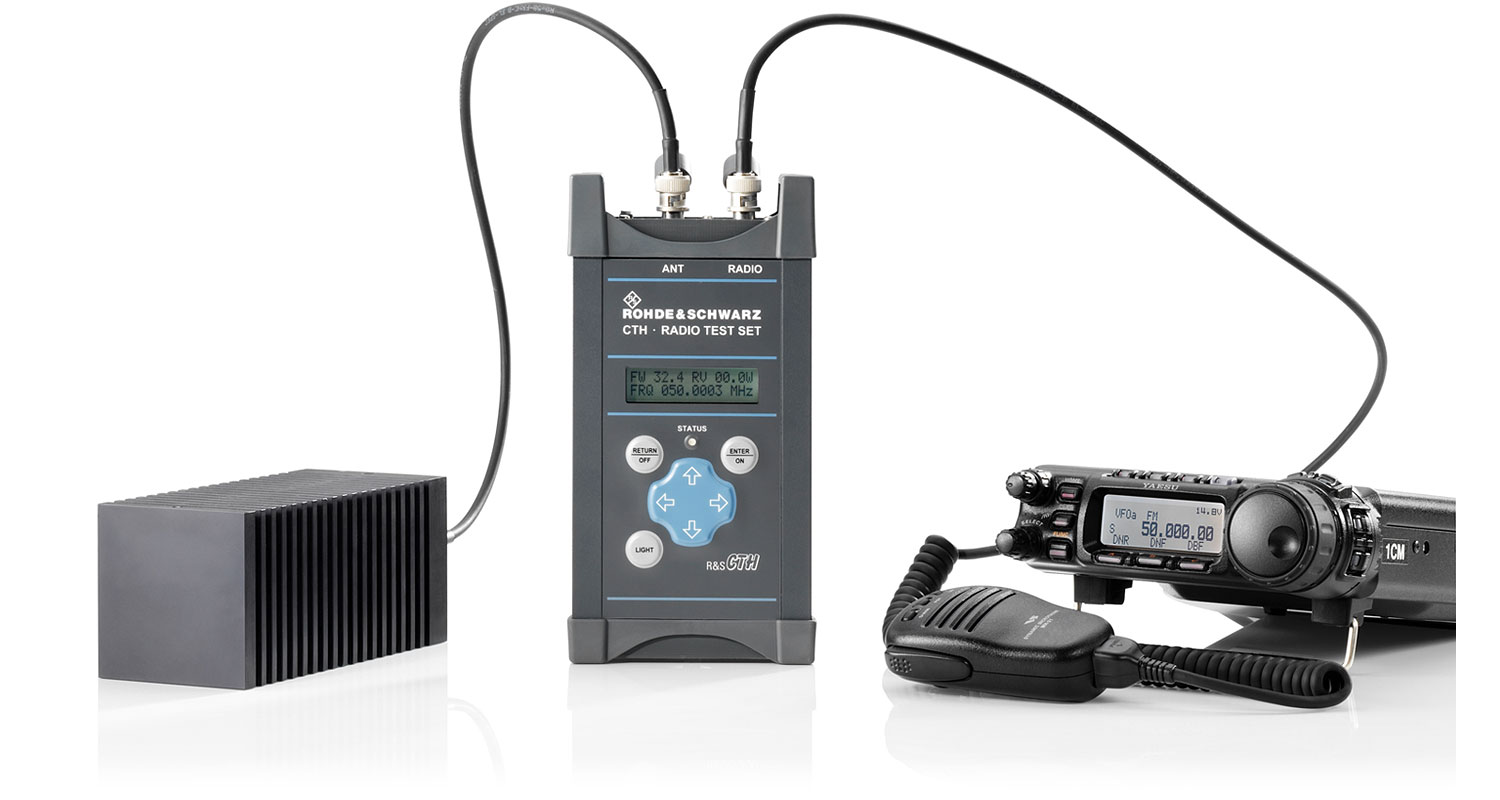 R&S®CTH100A/R&S®CTH200A Portable Radio Test Set   Overview   Rohde