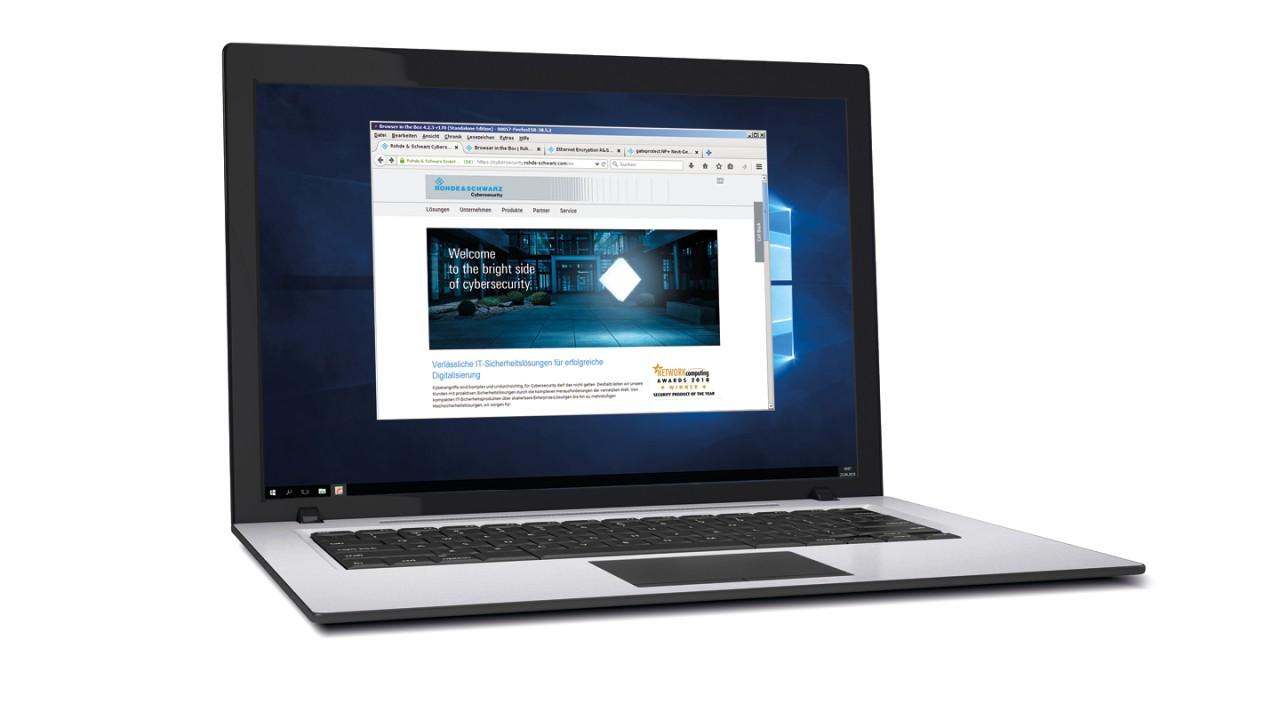 Saiba mais sobre o uso do R&S®Browser in the Box, totalmente virtualizado