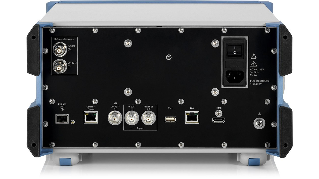 R&S®DSA DOCSIS signal analyzer, rear view
