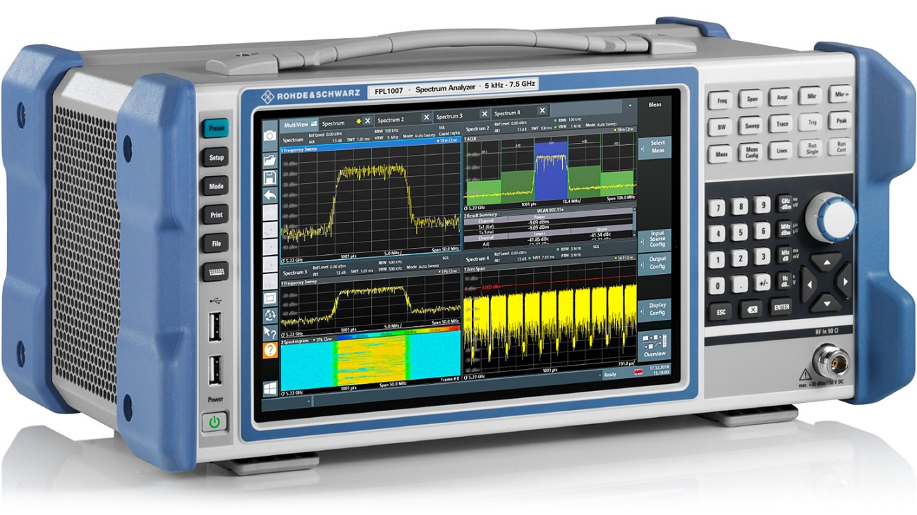 R&S®FPL1000 Spectrum analyzer, side view
