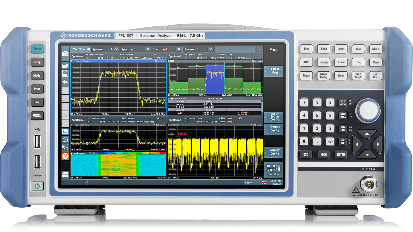 R&S®FPL1000 Spectrum analyzer, front view