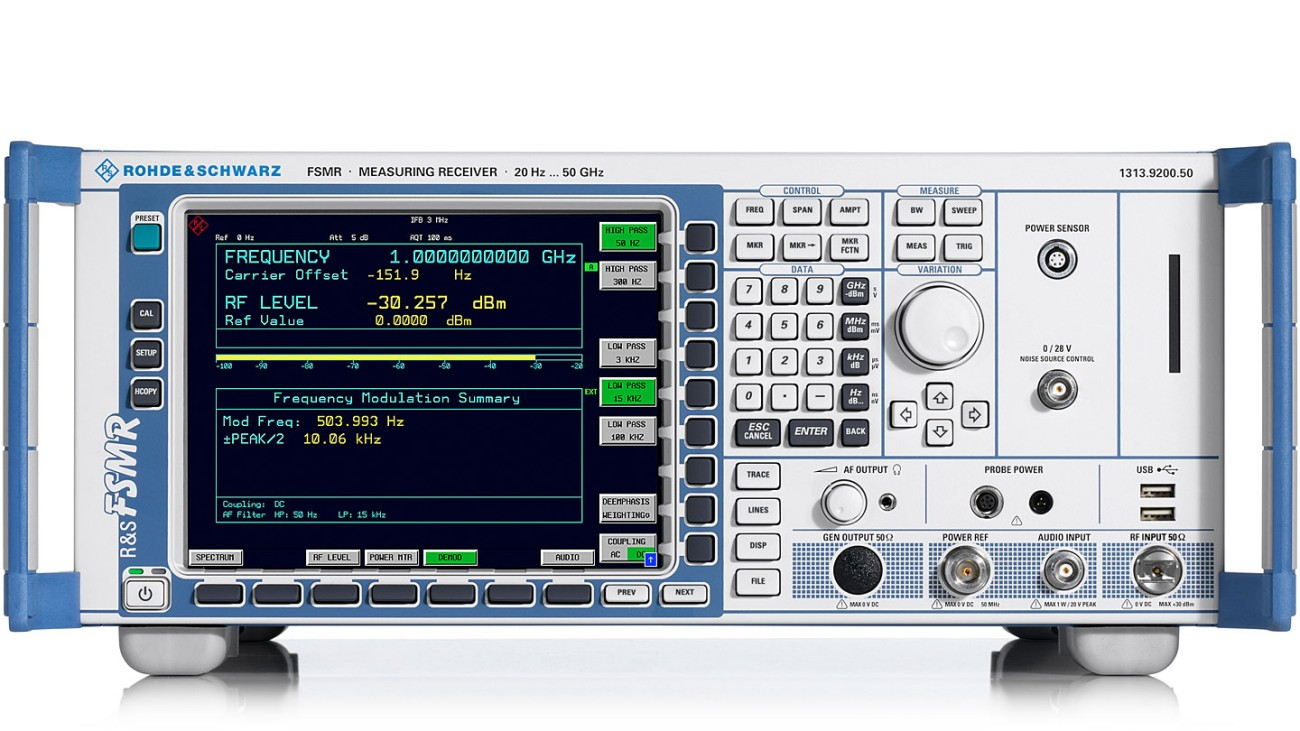 R&S®FSMR Measuring Receiver - Signal & Spectrum Analyzer