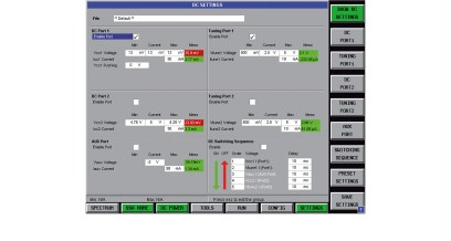 Menu for setting the DC ports for signal source analysis and additional port for negative supply voltage.