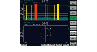 WCDMA code domain power measurement by means of the R&S®FSUP and R&S®FS-K72/R&S®FS-K74 (HSDPA).