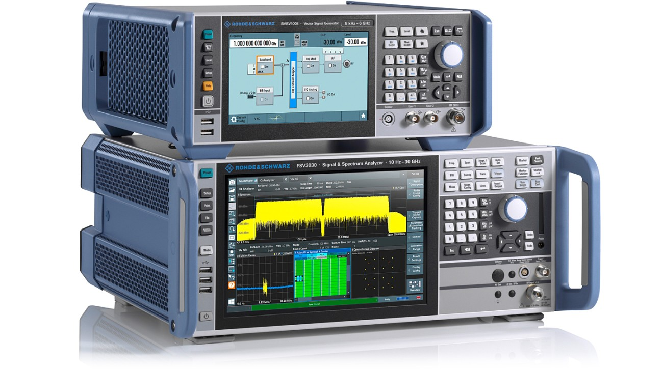 R&S®FSV3030 signal and spectrum analyzer and R&S®SMBV100B vector signal generator
