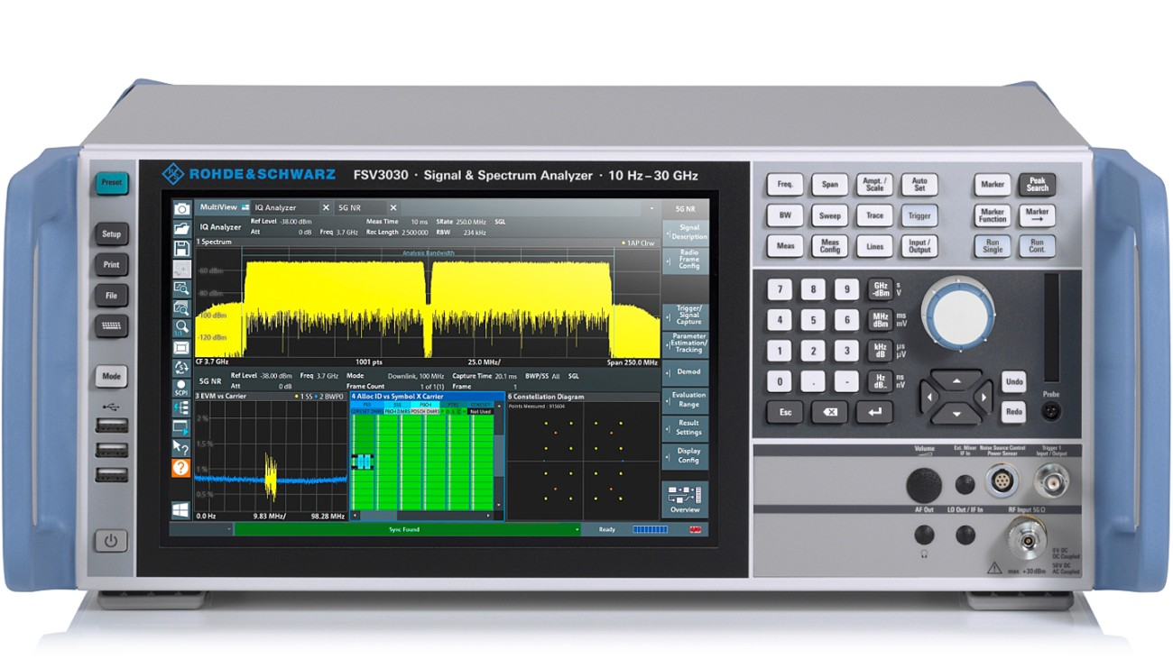 R&S®FSV3030 signal and spectrum analyzer, front view