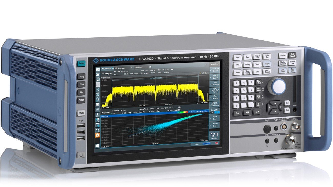 R&S®FSVA3030 signal and spectrum analyzer, side view