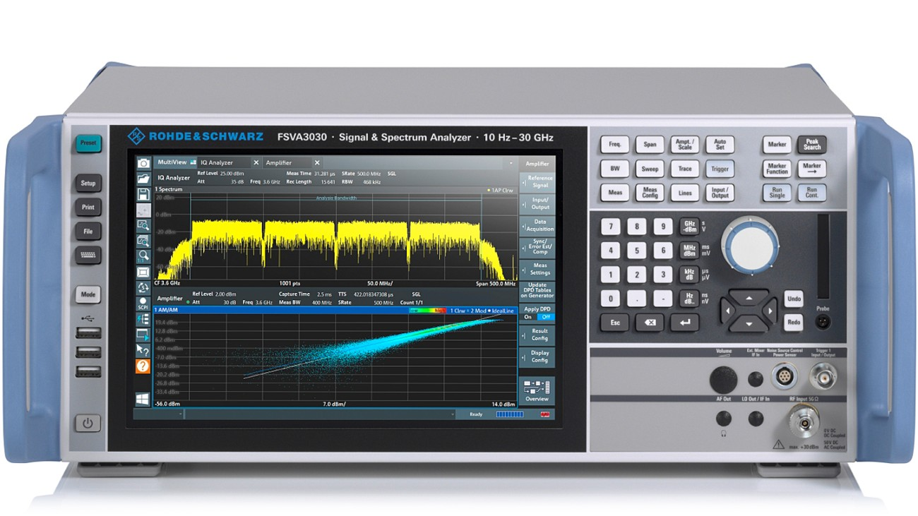 R&S®FSVA3000 signal and spectrum analyzer, front view