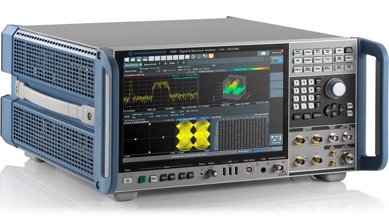 R&S®FSW-Signal and spectrum analyzer, side view