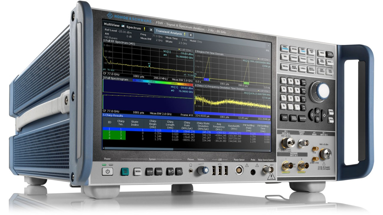 R&S®FSW85 - Signal and spectrum analyzer 2 Hz to 85 GHz