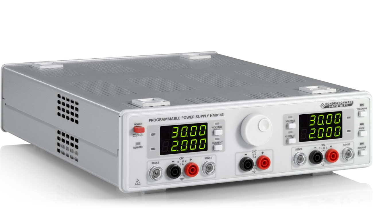 R&S®HM8143 Three-channel arbitrary power supply, side view