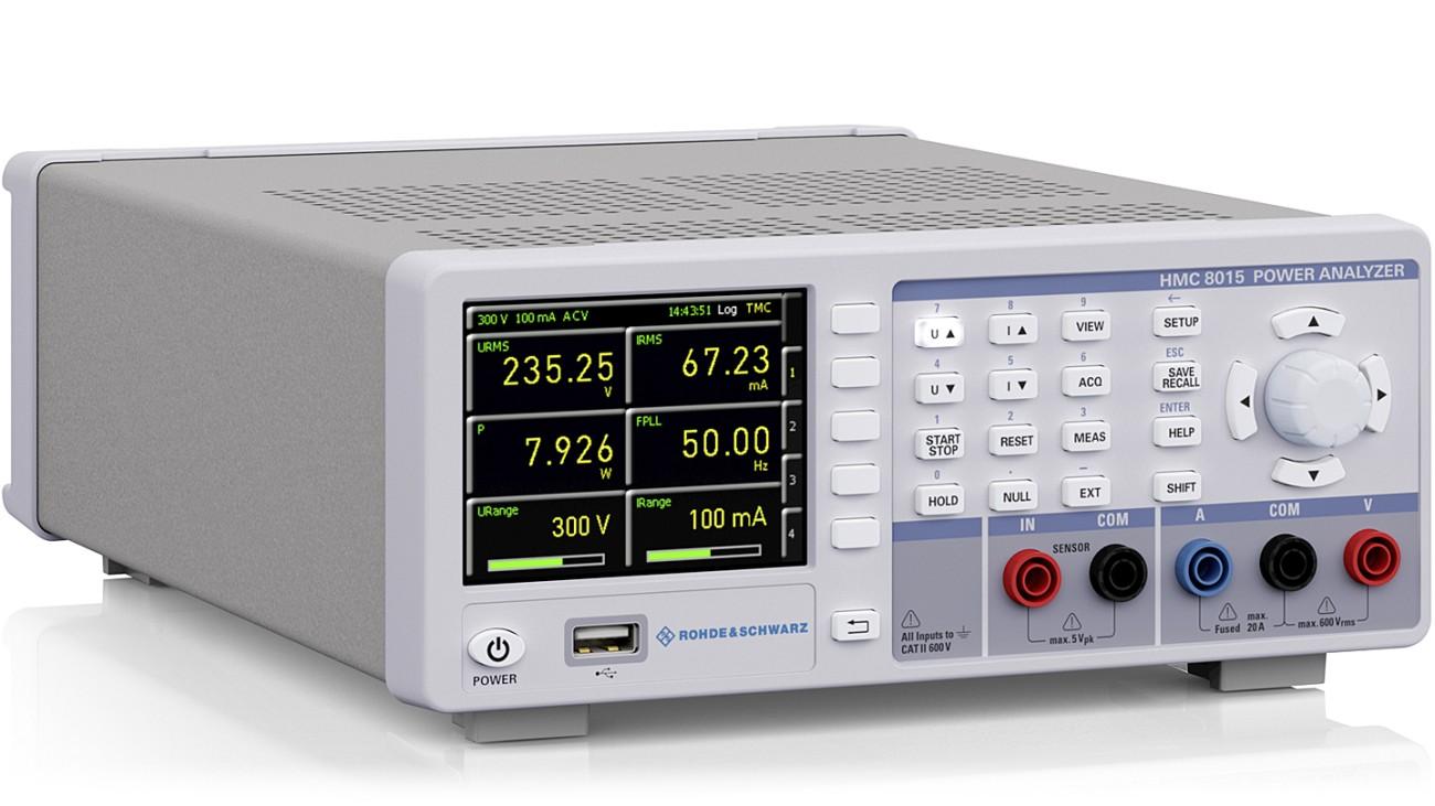 R&S®HMC8015 All-in-one Power Analyzer, side view