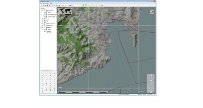OSM map section with shading for elevation display. This shading is based on SRTM elevation data