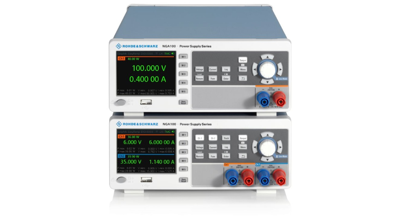 R&S®NGA100 power supply series front high view