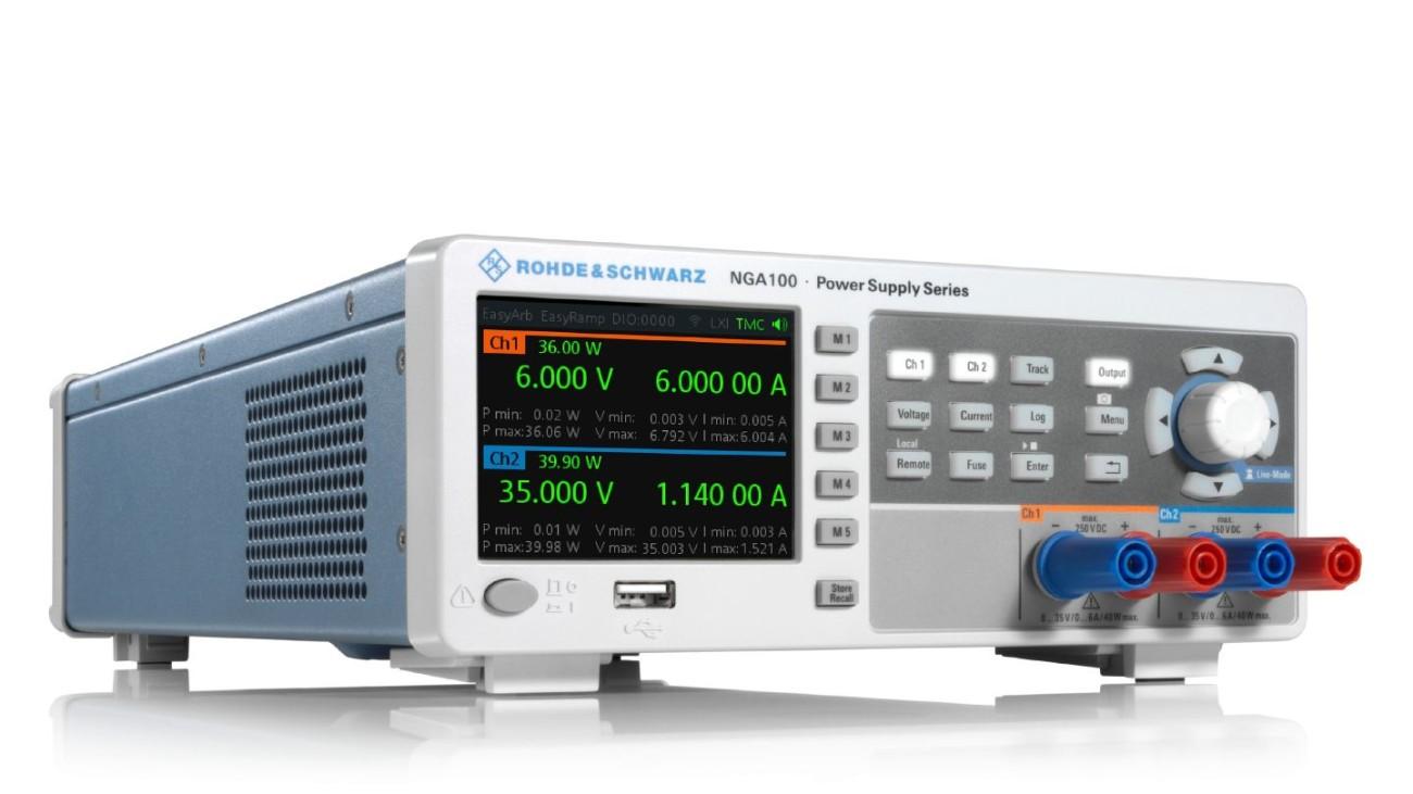 R&S®NGA100 power supply series hero view