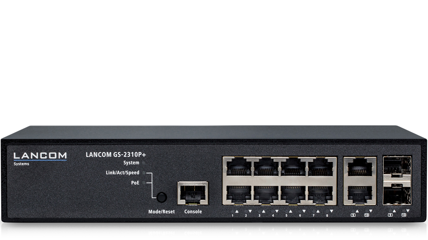 R&S®NRP-ZAP2 10-Port PoE+ switch