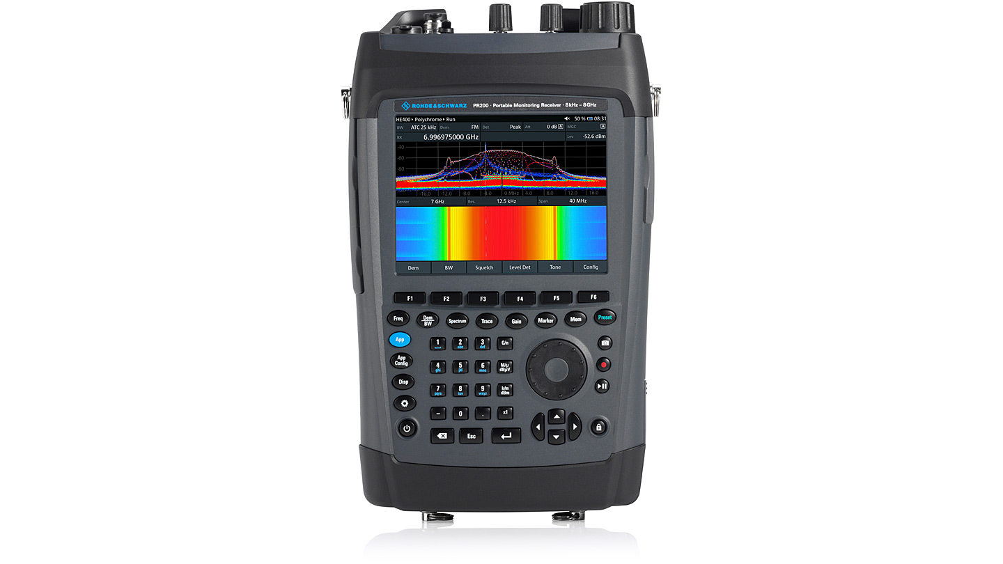 R&S®PR200 - Portable Monitoring Receiver