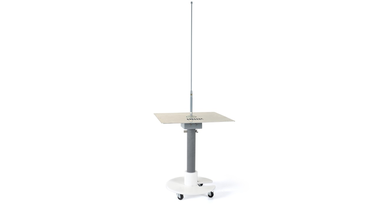 R&S®RAS Rod antenna stand, front view