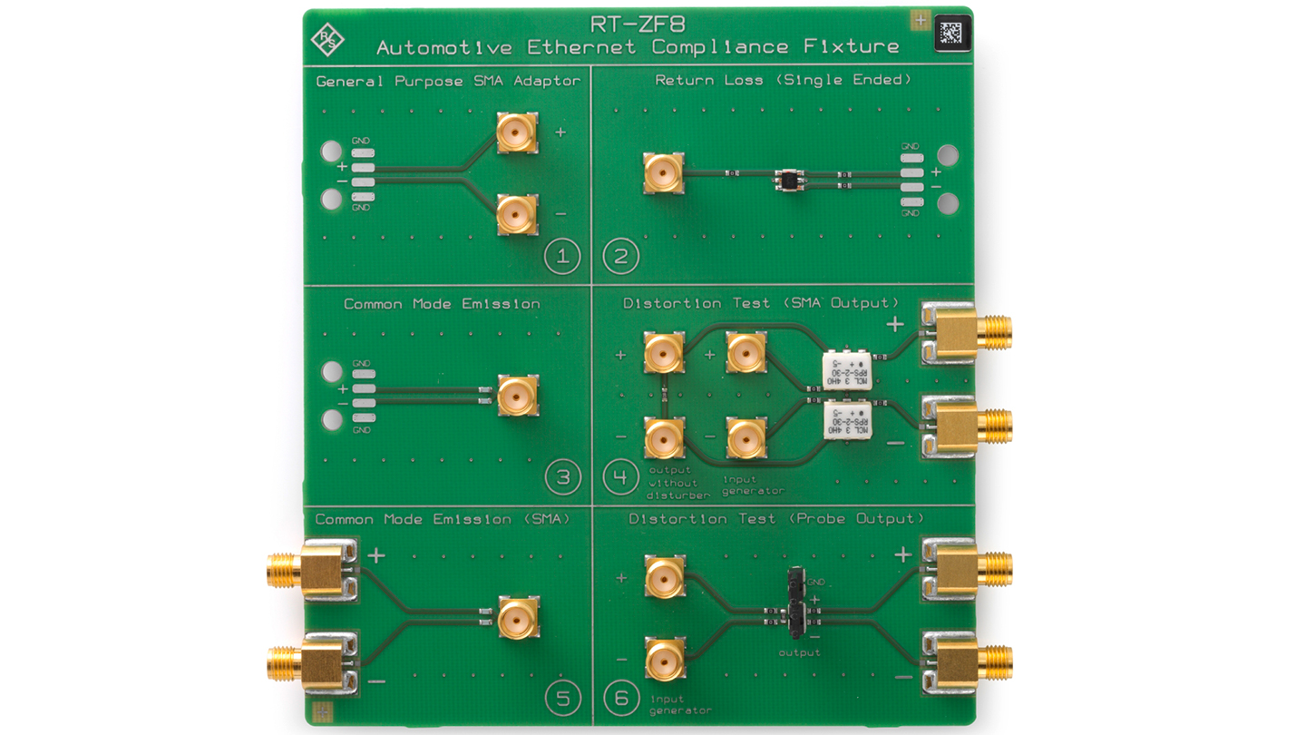 R&S®RT-ZF8 Automotive Ethernet Compliance Fixture
