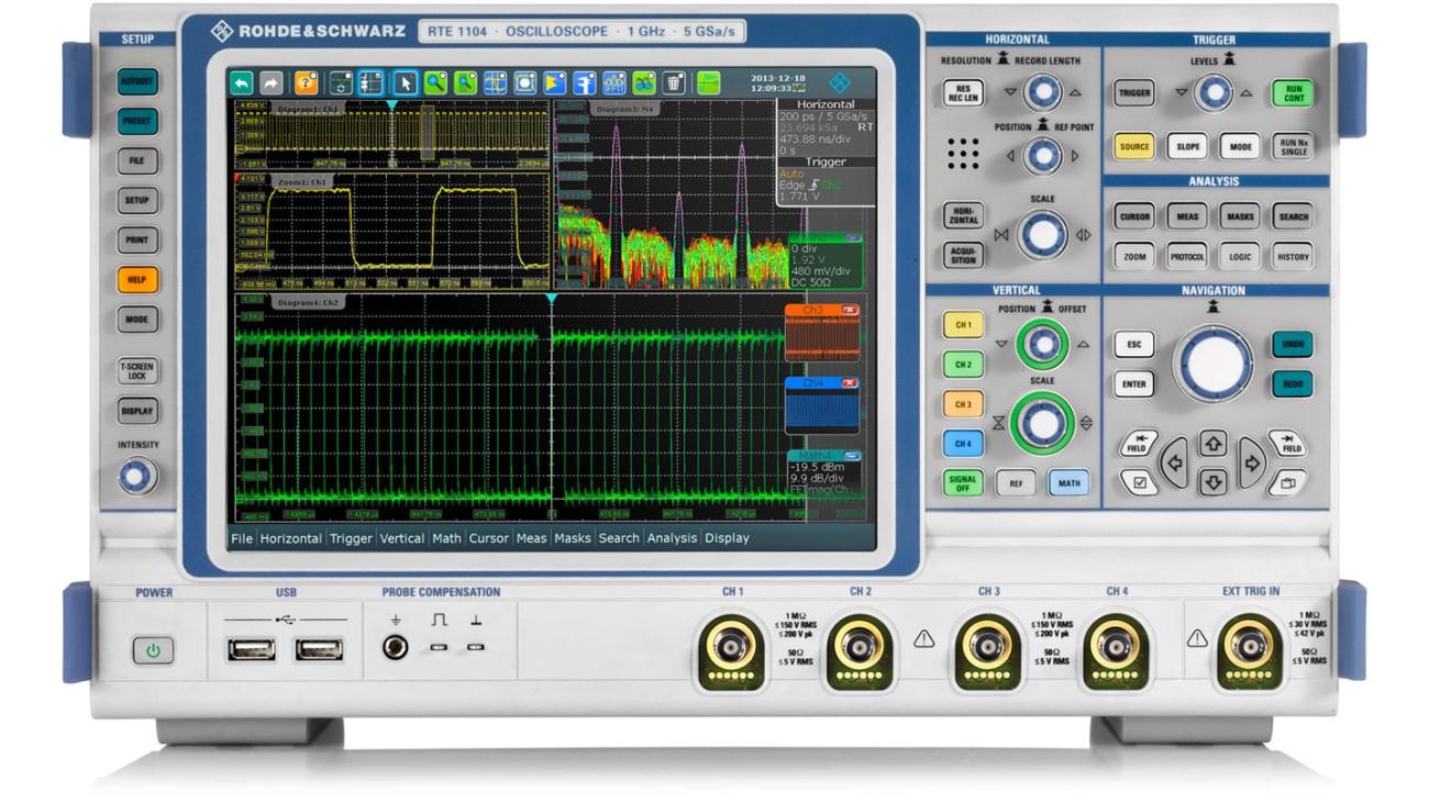 R&S®RTE1000 oscilloscope | Rohde & Schwarz