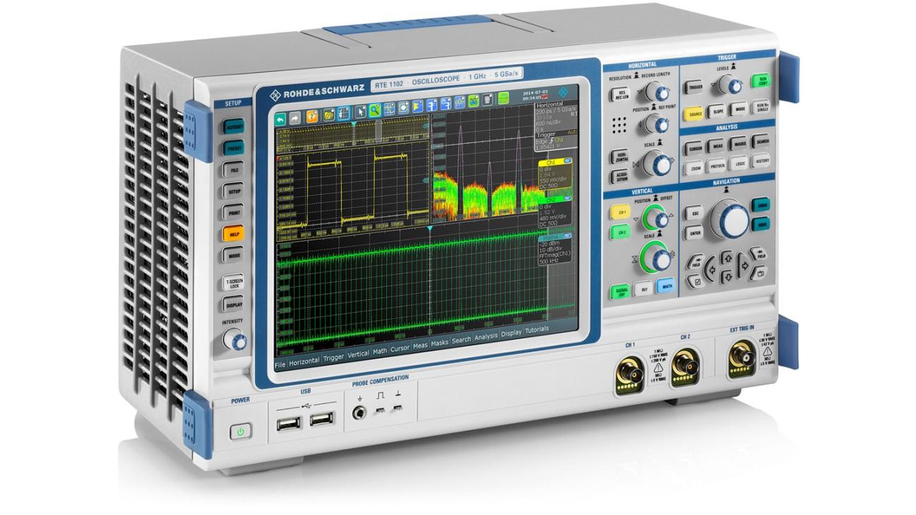 R&S®RTE1000 oscilloscope, side view