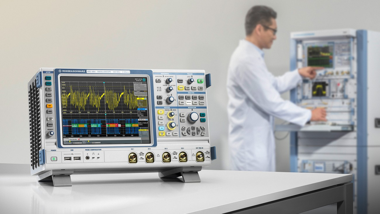 The oscilloscope R&S®RTE