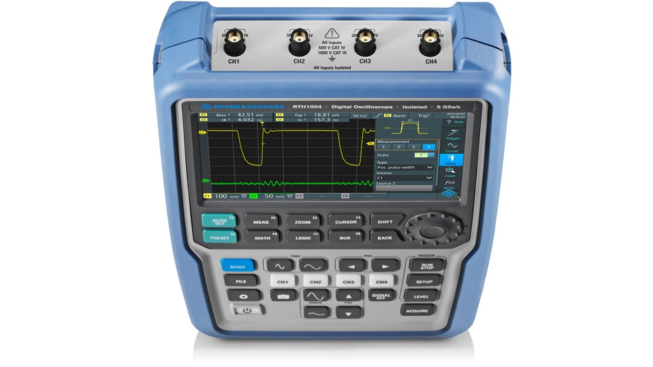 R&S®Scope Rider handheld oscilloscope, 4 channel model