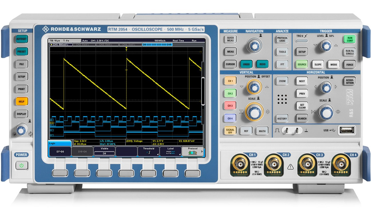 R&S®RTM2000 oscilloscope