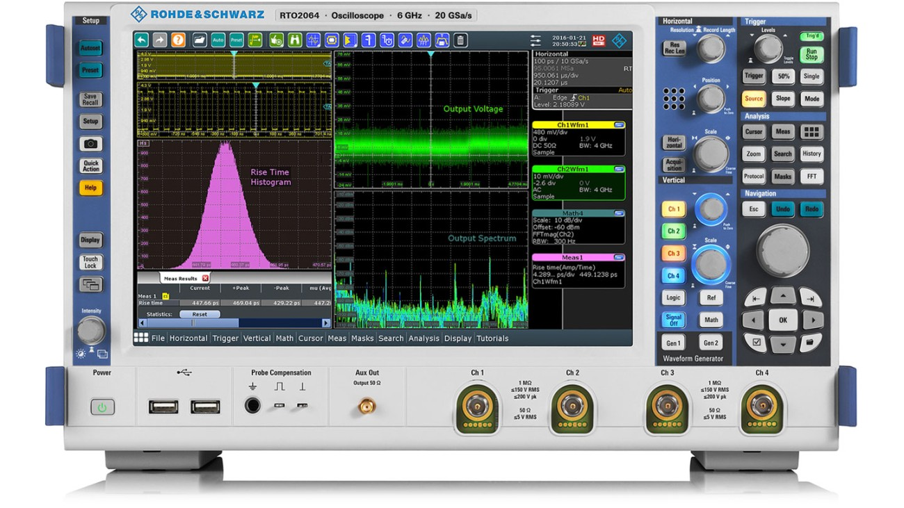 R&S®RTO2000 oscilloscope