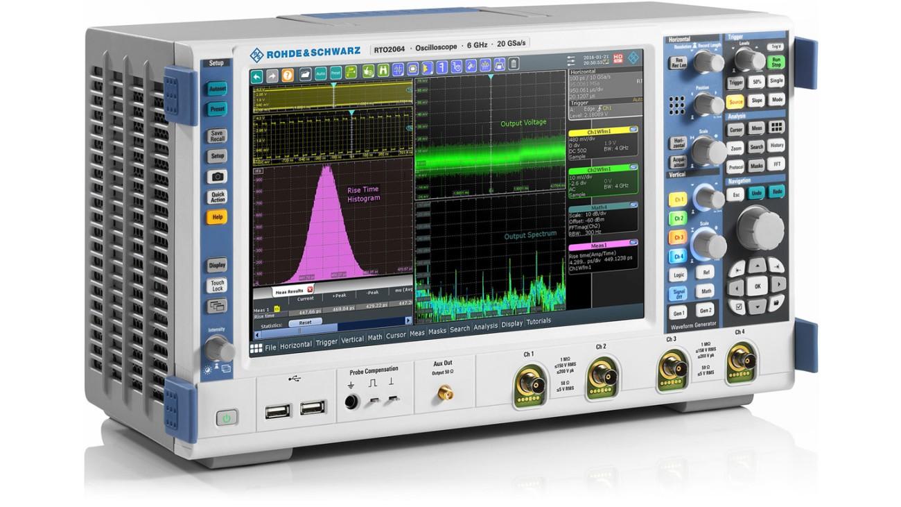 R&S®RTO2000 oscilloscope, side view