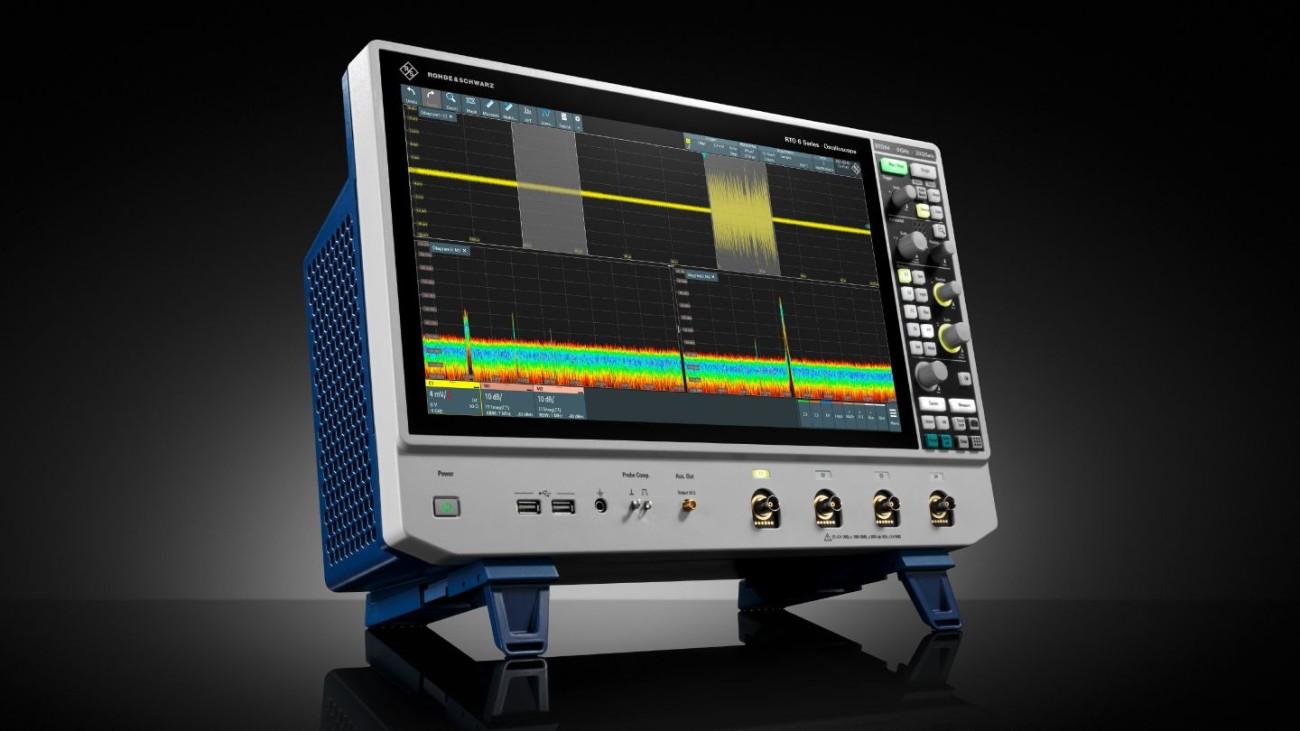 R&S®RTO6 oscilloscope, Front high