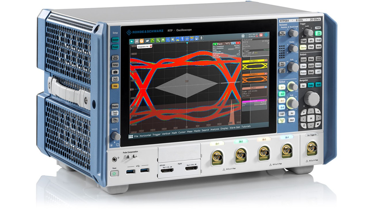 R&S®RTP oscilloscope, side view