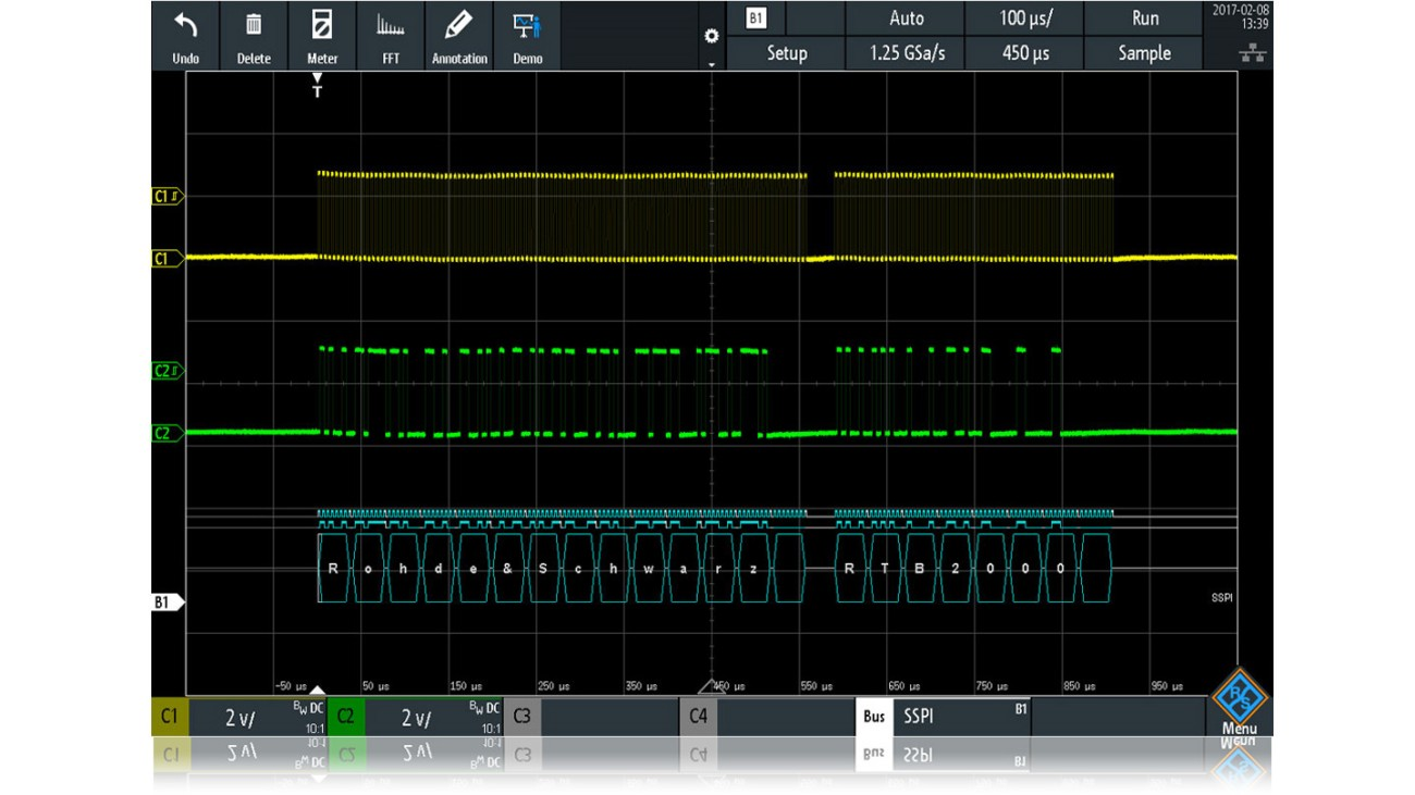 Digital Oscilloscope Serial Triggering and Decoding