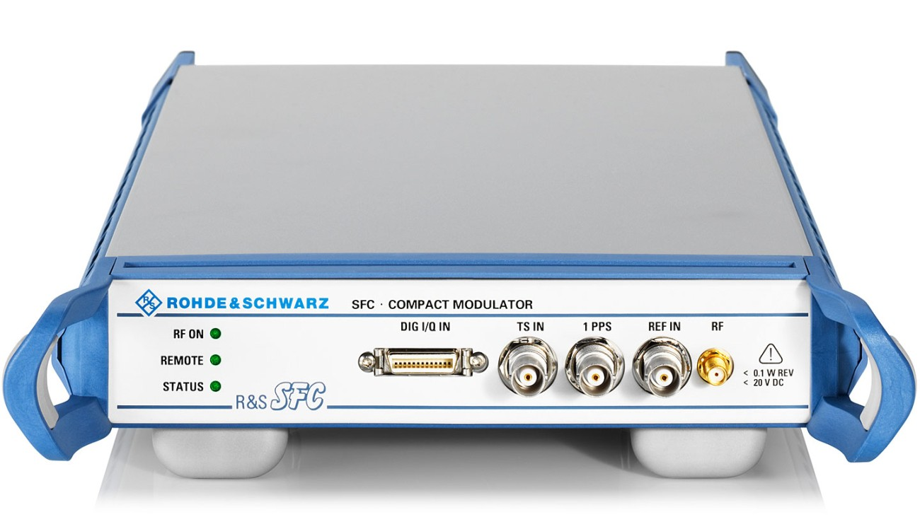 R&S®SFC compact modulator, front view