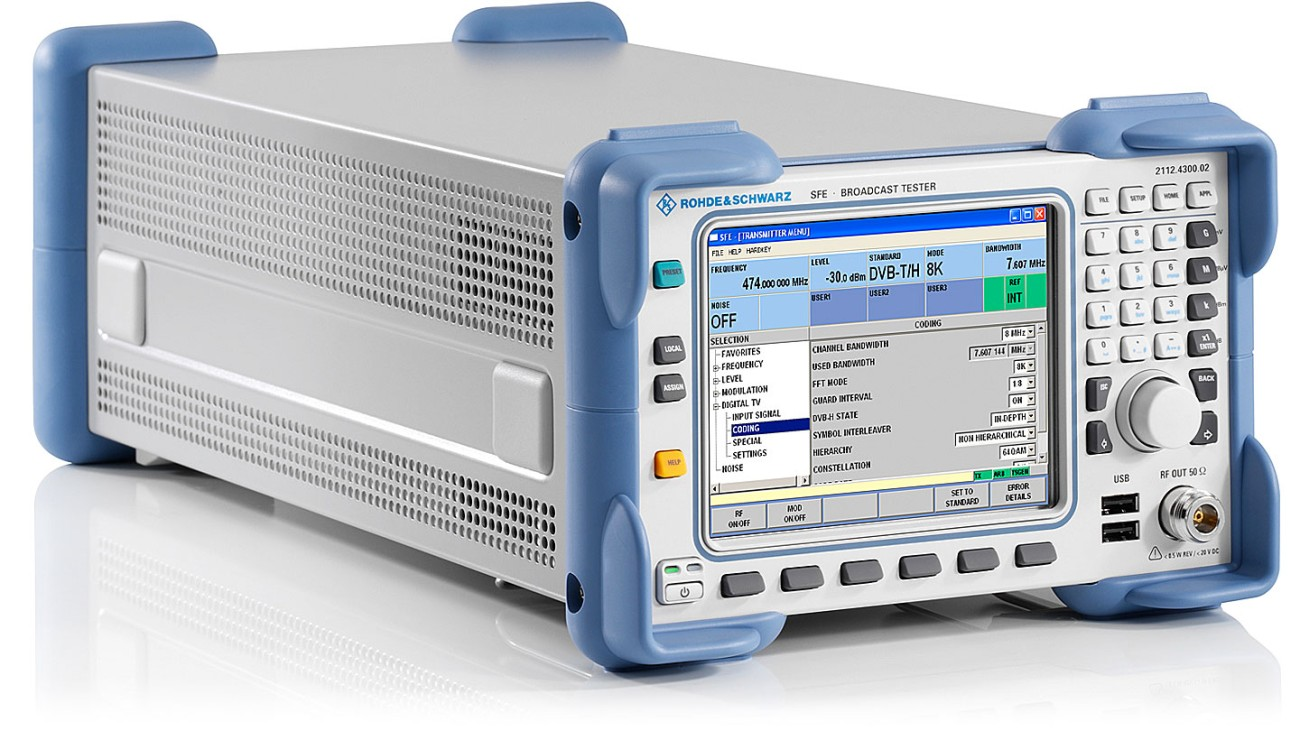 R&S®SFE broadcast tester, side view