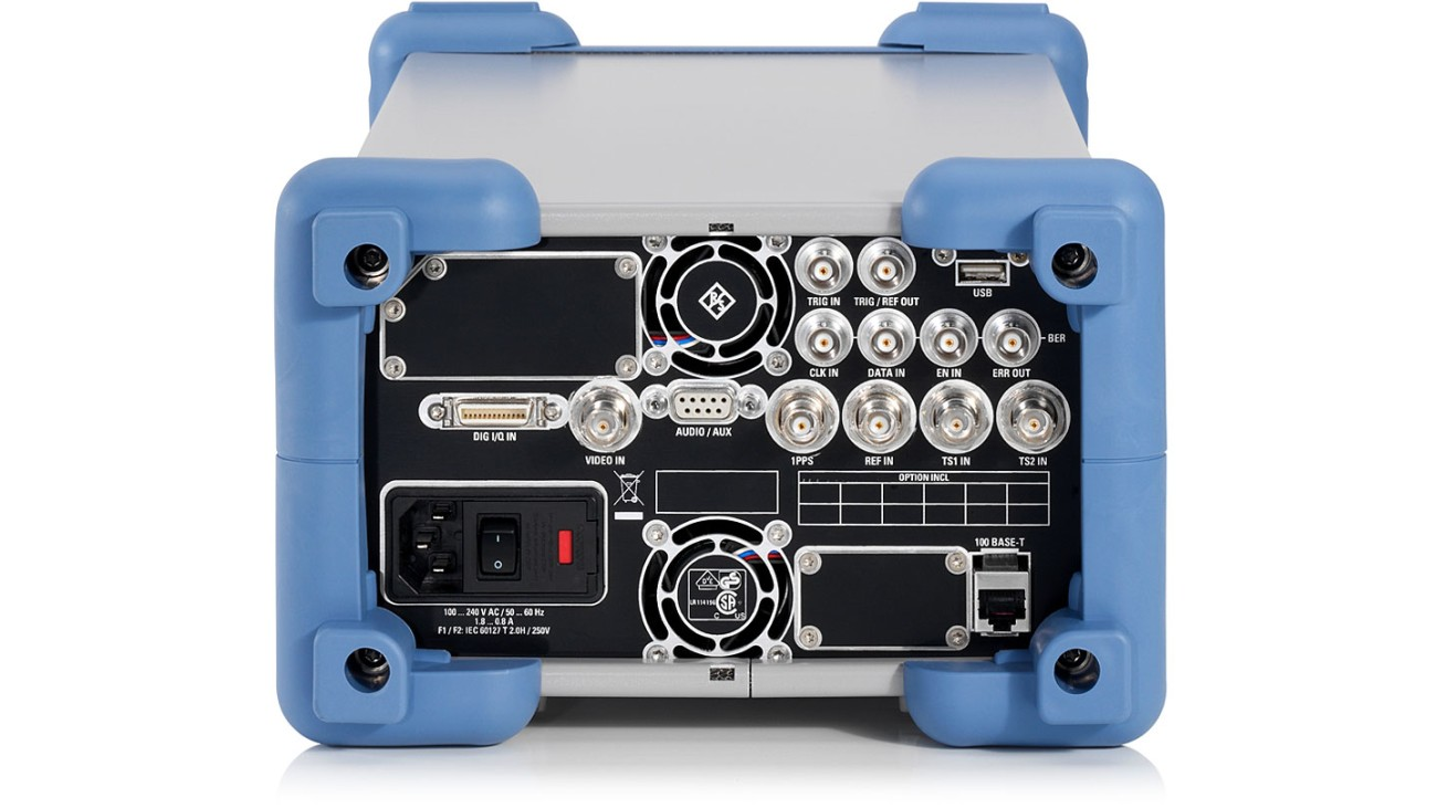 R&S®SFE broadcast tester, rear view