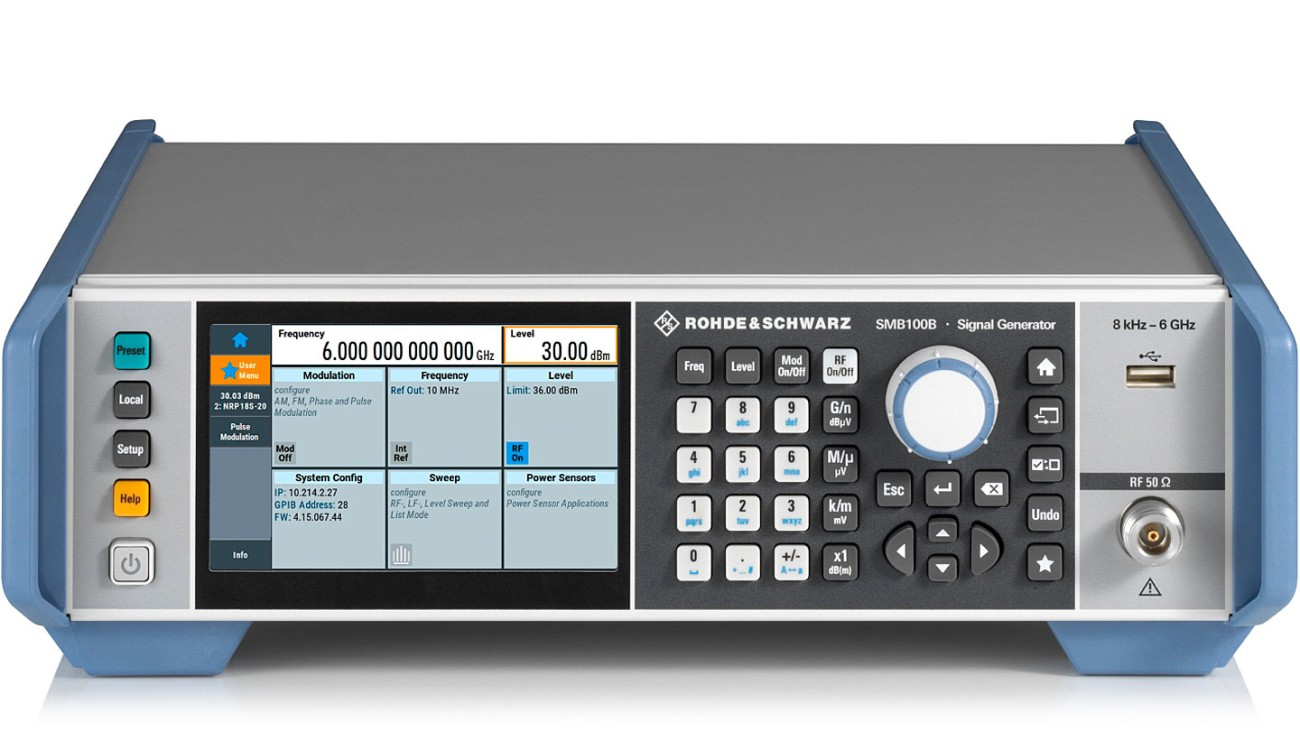 R&S®SMB100B RF Signal Generator, front view