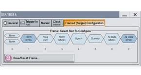 GSM/EDGE slot configuration using different burst types.
