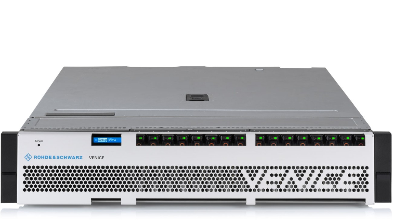 R&S®VENICE video server, front view