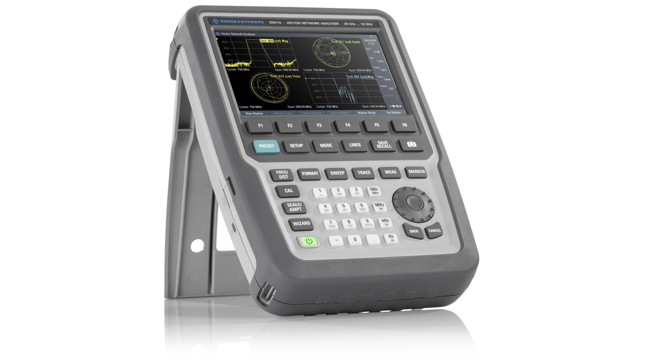 R&S®ZNH full two-port handheld vector network analyzer