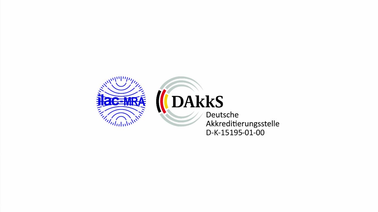 DAkkS accreditation 15195-01-00