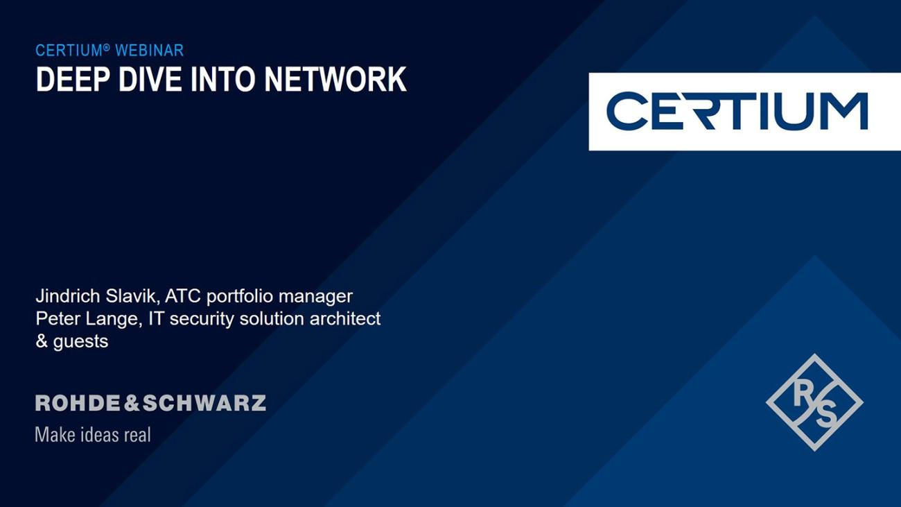Live CERTIUM® Webinar: Deep dive into CERTIUM® NETWORK