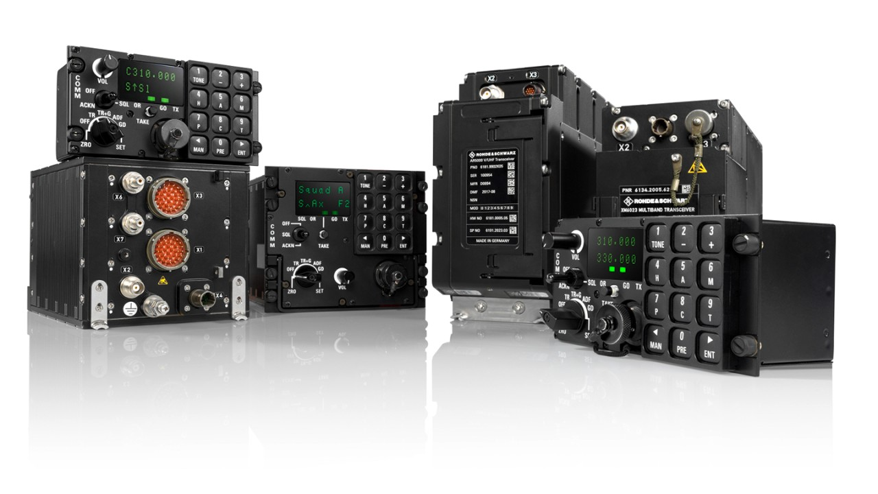 Airbus A400M aircraft with its software defined radios of the SOVERON family of airborne transceivers
