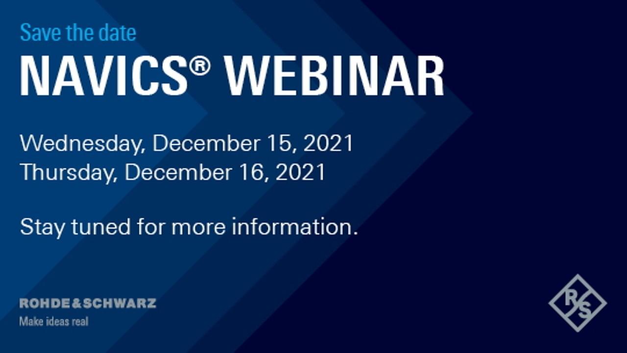 Upcoming NAVICS® webinar