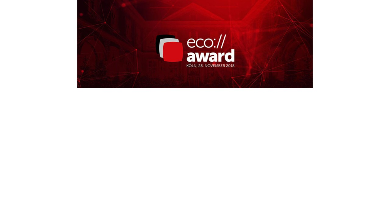 """Winner in the category """"Security"""" of the eco://award 2018"""